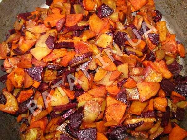 Жаренный сладкий картофель